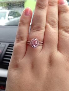 My beautiful engagement ring!